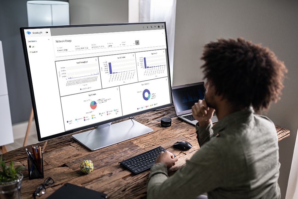 multitenant interactive IT OT IoT dashboards. Advanced smart analytics. Wire Data QoE Probe